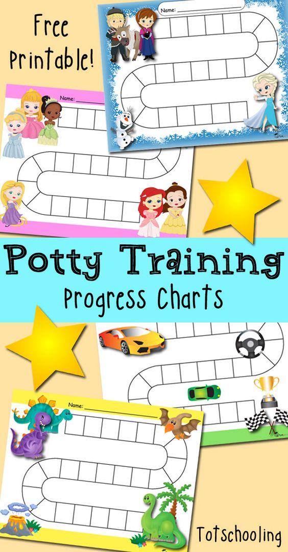 Free Potty Training Progress  Reward Charts  Chart Princess And