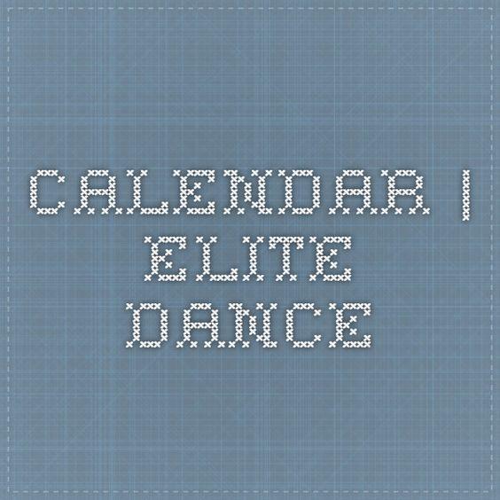 Calendar | Elite Dance