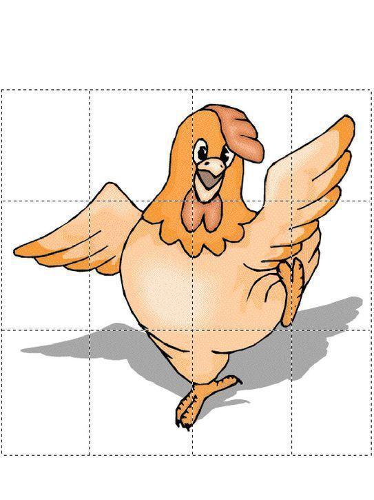 Puzzle do wycinania i wydruku dla dzieci za darmo - Zwierzęta | Animals,  Rooster, Art