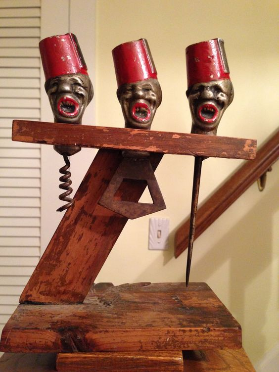 Fez Hats on bar tools. Egyption or Shriners? I don't know. A Christmas present from my son