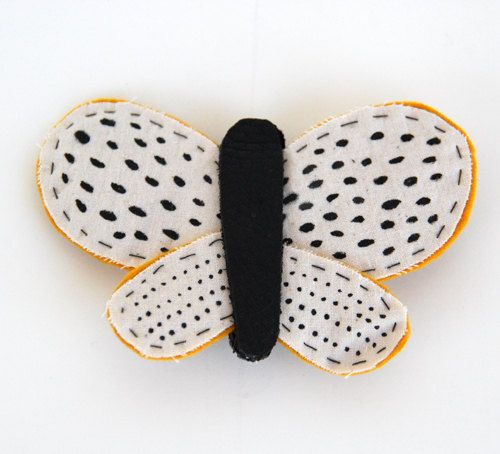Spotted Butterfly Brooch by romawinkel on Etsy, $32.00