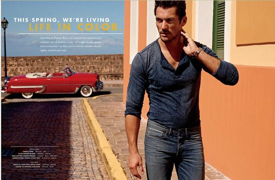 Lucky Brand SS 2012 Campaign Catalog Model: David Gandy