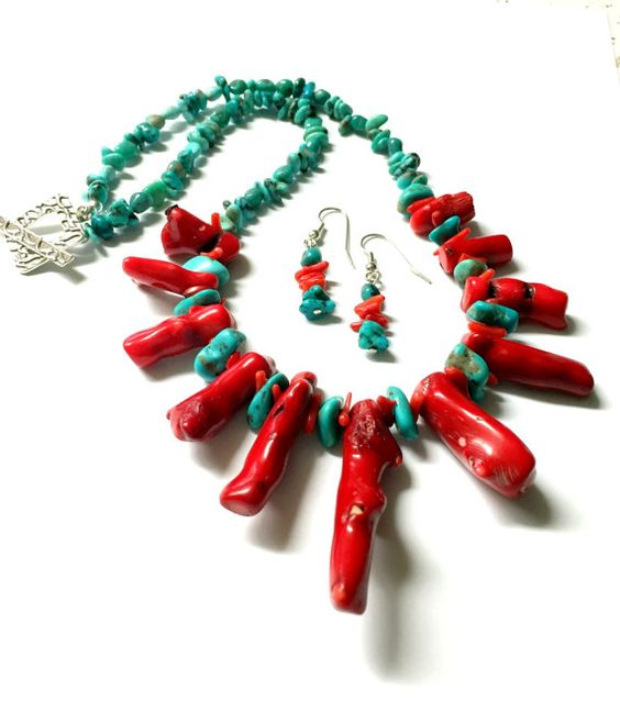 Authentic and Natural Red Finger Coral and Natural by Highway22