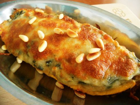 Canoa de Plátano Rellena de Espinacas - KarmaFree Cooking  #karmafree #vegetarian