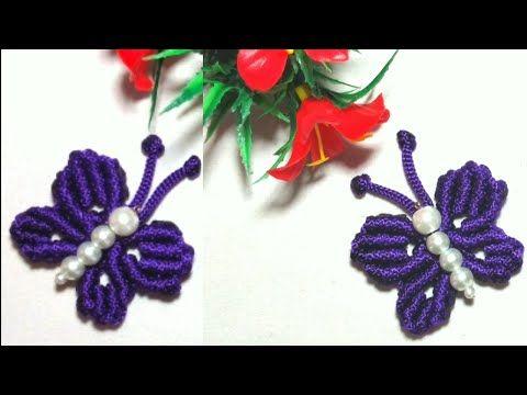 Souvenir Gantungan Kunci Dan Bros Kupu Kupu Butterfly Macrame Keychain Brooch Talikur Pelangi Shop Youtube Macrame Tutorials Macrame Art Macrame Diy