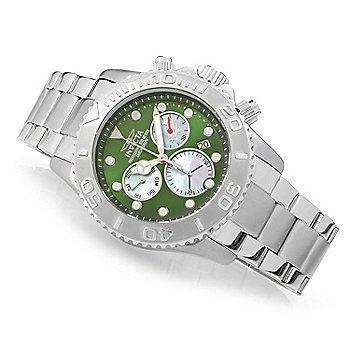 Invicta 50mm Australian Diver Z60 Quartz Chronograph Stainless Steel Bracelet Watch