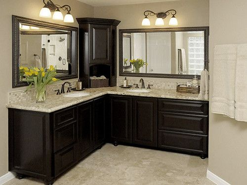 Master bath remodel traditional bathroom houston by carla aston interior designer in Bathroom vanities houston tx