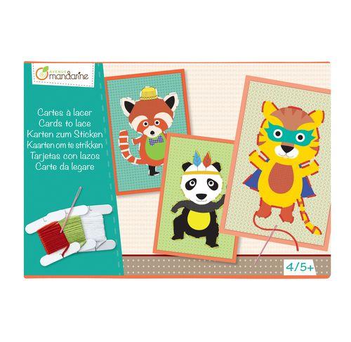 Avenue Mandarine Cards To Lace Per Creare Simpatici Quadretti Con Animali Kc023cards To Lace Gioco Creativo Che Kids Crafts Cucito Per Bambino Quadretti