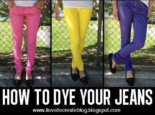 Dye your Denim Jeans DIY Video Tutorial