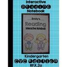 CVC Word Family Interactive Notebook Kindergarten Reading RF.K.2a
