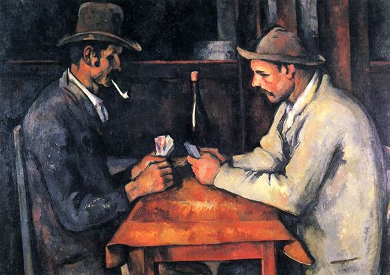 """The Card Players"" by Paul Cezanne, 1890s"