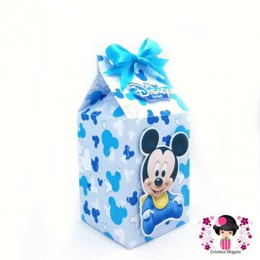 Lembrancinhas Do Mickey Baby Caixinha De Leite Personalizada In