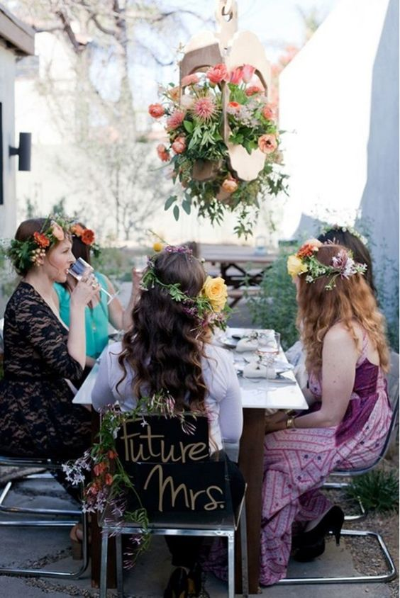 Flower crowns are a must-have at any bridal shower.