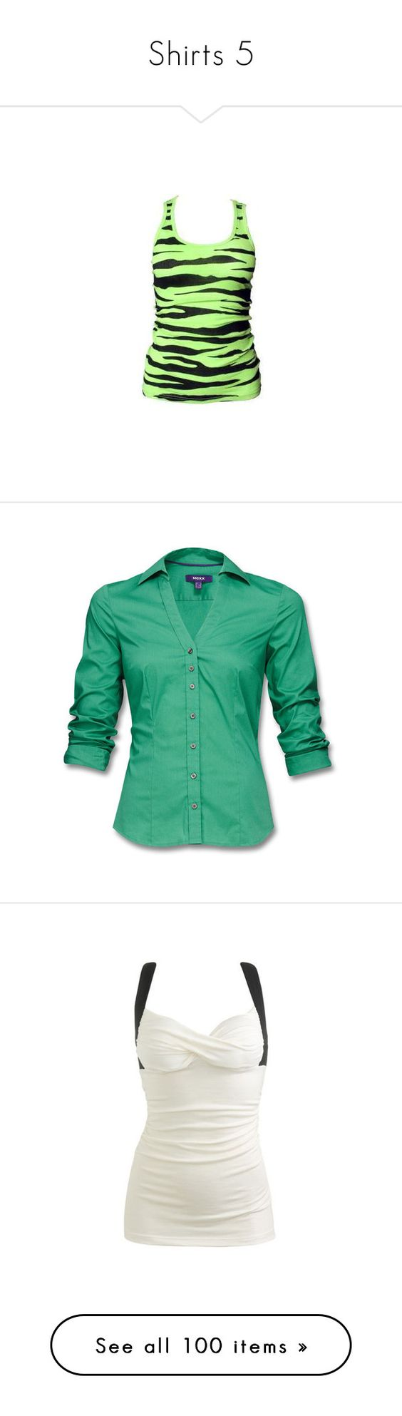 """""""Shirts 5"""" by snowwolf422 ❤ liked on Polyvore featuring tops, shirts, tank tops, tanks, 10. tops., green tank top, green top, green tank, shirts & tops and green shirt"""