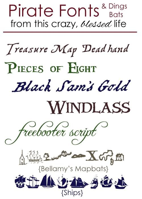 Pirate fonts, free