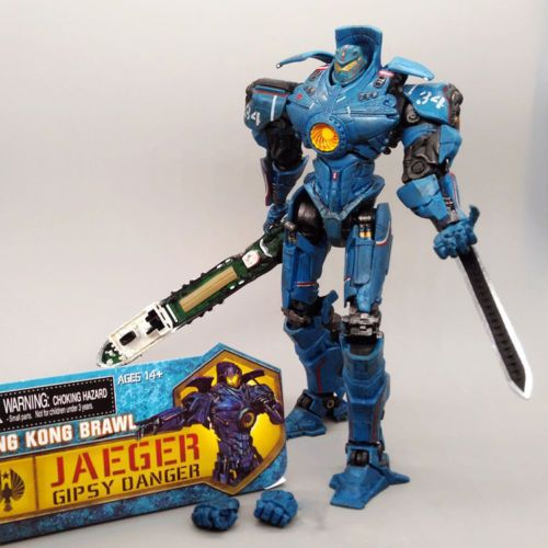 Pacific Rim Jaeger Gipsy Danger action figure model Hong Kong Brawl 7'' figurine