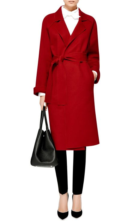 Belted Wool and Cashmere-Blend Coat by Isa Arfen - Moda Operandi