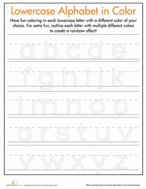 Rainbow Letters! Practice Writing Lowercase Letters | Articles ...