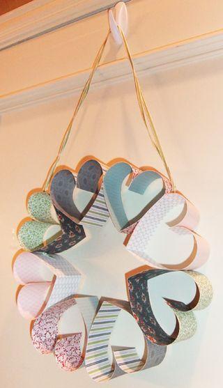 Stampin' Up! SU Heart Wreath Tutorial by Stamp Stitch & Swizzle Stix