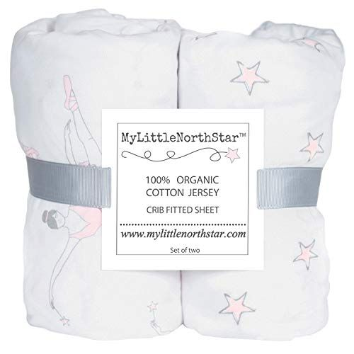 Crib Sheets 100 Organic Jersey Cotton Pink For Girl 2 Pack Fi Organic Crib Sheets Crib Sheets Cribs