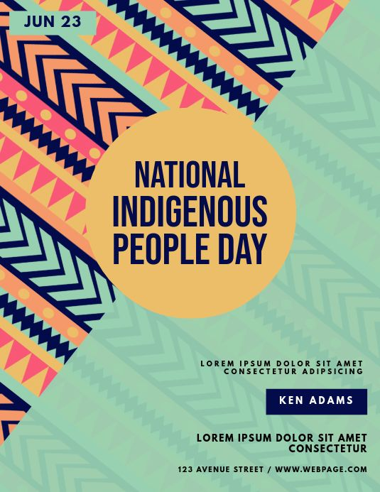 Indigenous People Day Flyer Template Native American Heritage Month Indigenous Peoples Indigenous Peoples Day
