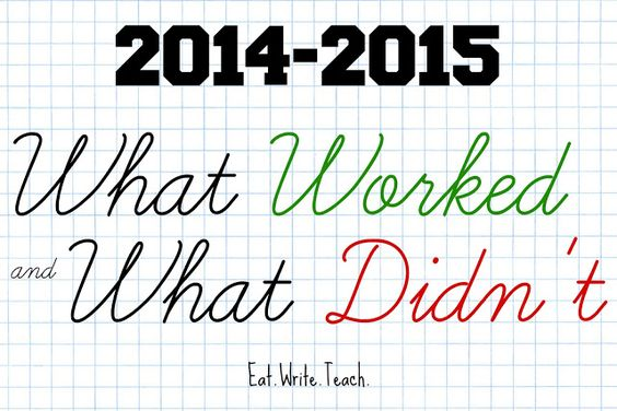 Eat. Write. Teach.: 2014-2015: What Worked and What Didn't