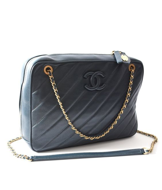 CHANEL Camera Case Navy - Crave Luxury Consignment  - 1