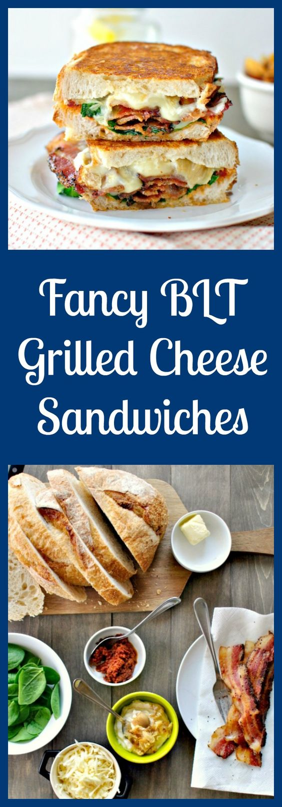 A fancy twist on a BLT. Griddled until golden and gooey with Fontina cheese. From @lauriemc6