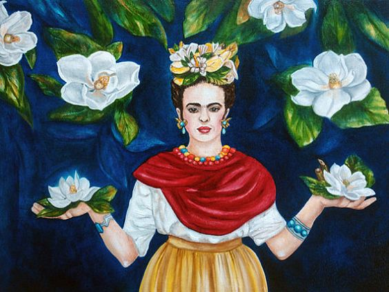 Frida Kahlo Print Frida Kahlo Art Mexican by kMadisonMooreFineArt