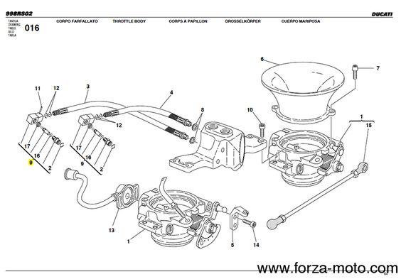 Ducati Corse Raccord Pompe à essence en ergal usiné pour 996RS & 998RS (81420011A) - Ducati Corse Pièce détachée - Forza-moto