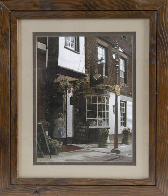 164: Unique Foil Print of Nell Gwynn's House : Lot 164