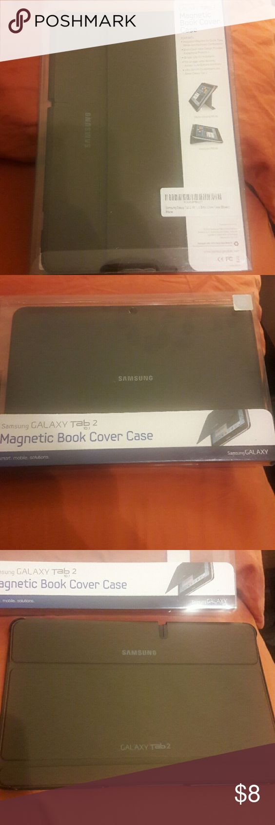 New Samsung Galaxy Tab2 10.1 case New brown case Samsung Accessories Tablet Cases