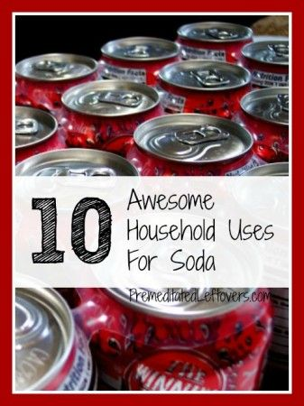 10 Household Uses for Soda Pop - frugal ways to use up leftover soda from holiday parties. This site has other useful hints for other items. Honey borax vinegar atc. Check it out