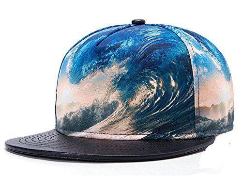 Fashion 3D Sea Waves PU Leather Brim Snapback Cap Hip-Hop Fitted hats, http://www.amazon.com/dp/B00XQNE4JQ/ref=cm_sw_r_pi_awdm_G5WPvb0Y54A5B