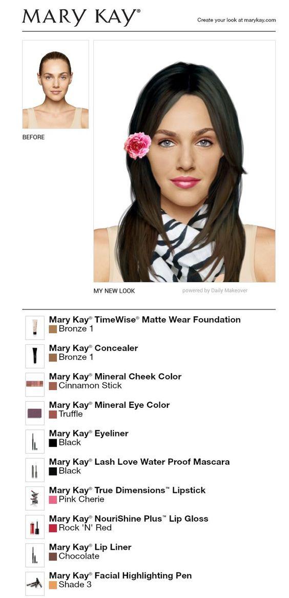 I Made Alicia Rivera Using The Free Mary Kay Makeover App!