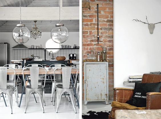 minimalist utilitarian chic scandinavian inspired decor pinterest vintage chairs and just. Black Bedroom Furniture Sets. Home Design Ideas