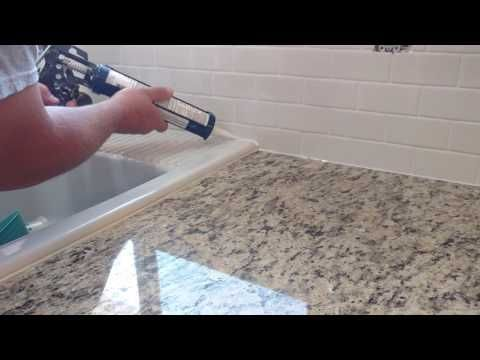 How To Install Silicone Caulk Around Kitchen Countertop Shower Bath Tub Etc Youtube Kitchen Countertops Silicone Caulk Silicone Kitchen