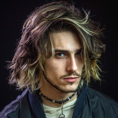 Long Hairstyles For Men With Thick Hair Shoulder Length Messy Hair Thick Hair Styles Hair Styles Long Hair Styles Men