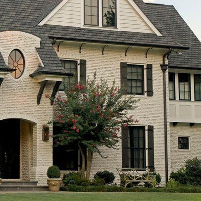 Exterior photos cream paint design ideas pictures for Home exterior makeover app
