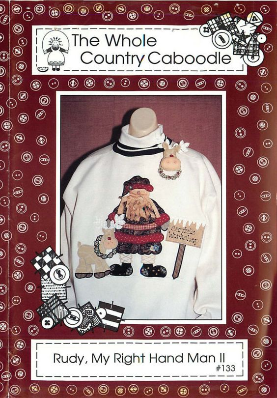 """Applique Pattern for """"Rudy, My Right Hand Man II"""", by The Whole Country Caboodle by CarlasHope on Etsy"""