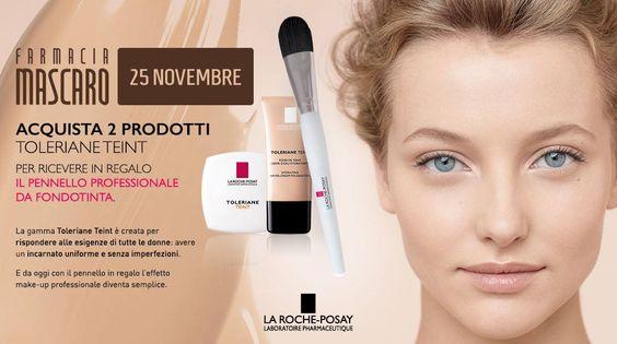 In regalo per te il pennello da fondotinta La #RochePosay. Studiato per pelli sensibili e per un #MakeUp professionale. Scoprilo il 25 Novembre in #Farmacia.