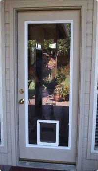 Full View Glass Insert With Pet Door Large Diy