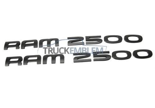 2 New Custom Matte Black 05 07 Dodge Ram 2500 Door Emblems Badges Pair Set Dodge Ram 2500 Dodge Ram Ram 2500