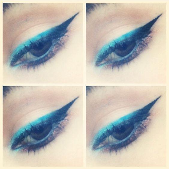 Ombré #shaaanxo inspired eyeliner ❤️