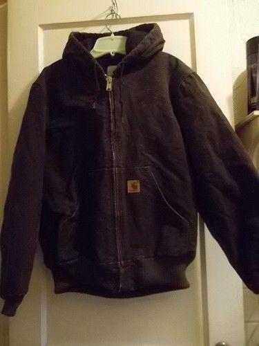 Men&39s Clothing Outerwear Carhartt Hooded Men&39s Dark Brown Coat S