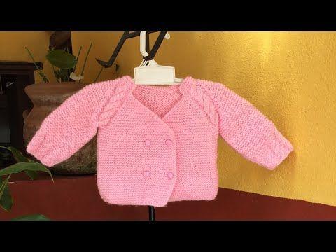 Cómo Hacer Chambrita Para Bebe Con Manga Ranglan Aguja Circular Youtube Baby Knitting Youtube Bebe