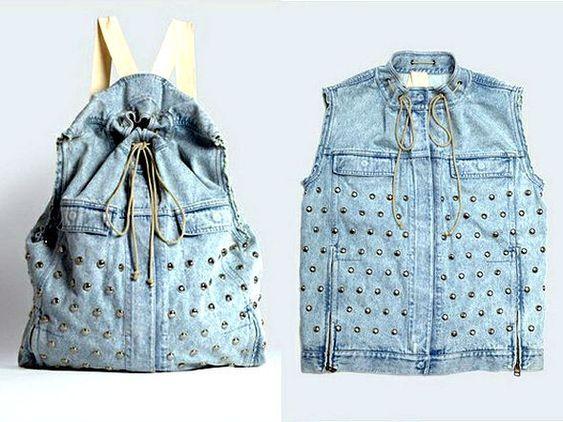 Bolsa Feita de Calça Jeans Velha | Artesanato - Cultura Mix: