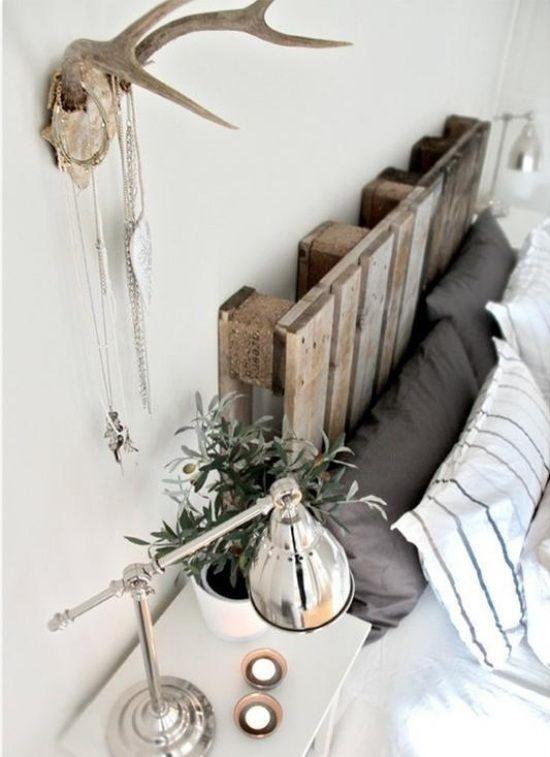 palette holz kopfbrett ideen zum selbermachen schlafzimmer
