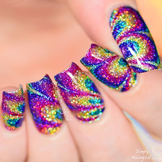 Simply Nailogical Nail Art: NO WATER Watermarble! See How Here: Http://bit.ly