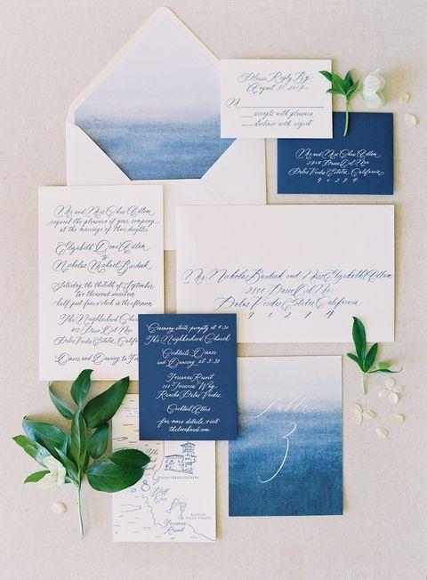 Made to Order Print at Home Printable Wedding Invitation Premium Suite Blue Velvet Customizable